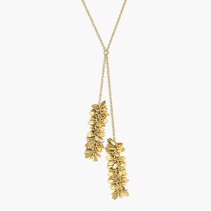 NWT JCREW GLITTERING GOLD Y NECKLACE